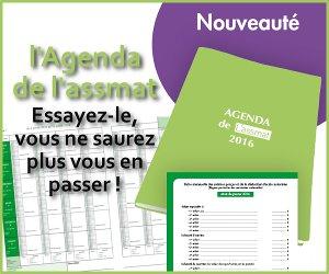 Agenda assistante maternelle 2016