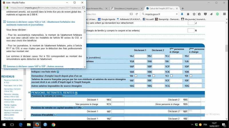 Top Sujet : Feuille de Calcul Impôt 2016-2017 (1/2) - Les forums de  EO71