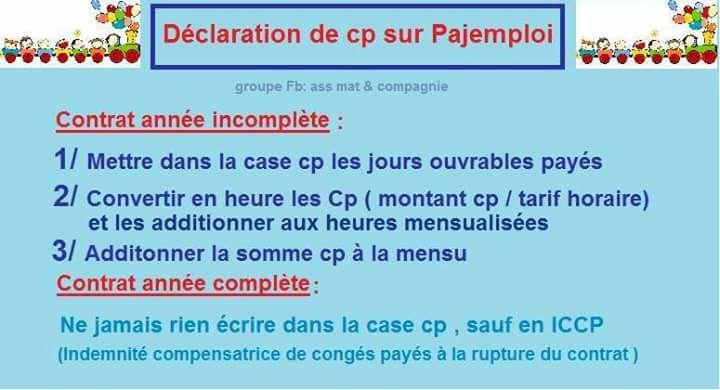 Declaration Conges Payes Sur Pajemploi Les Forums De Casamape